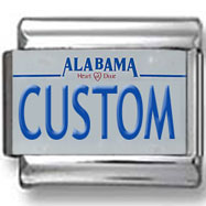 Alabama License Plate Custom Charm