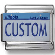 Illinois License Plate Custom Charm