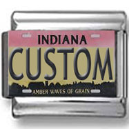 Indiana License Plate Custom Charm