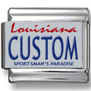 Louisiana License Plate Custom Charm