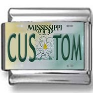 Mississippi License Plate Custom Charm