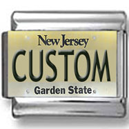 New Jersey License Plate Custom Charm