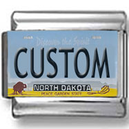 North Dakota License Plate Custom Charm