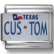Texas License Plate Custom Charm