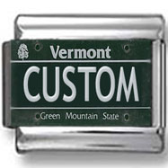 Vermont License Plate Custom Charm