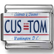 Washington, DC License Plate Custom Charm