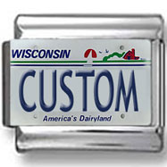Wisconsin License Plate Custom Charm