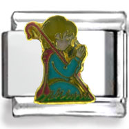 Praying Wise Man Enamel Charm