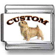 Norfolk Terrier Dog Custom Photo Charm