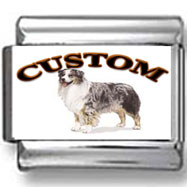 Australian Shepherd Dog Custom Photo Charm