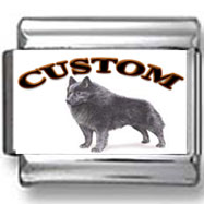 Schipperke Dog Custom Photo Charm