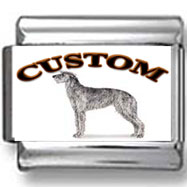 Scottish Deerhound Dog Custom Photo Charm