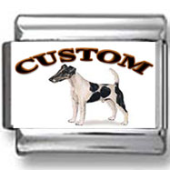 Smooth Fox Terrier Dog Custom Photo Charm