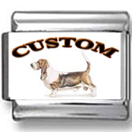 Basset Hound Dog Custom Photo Charm