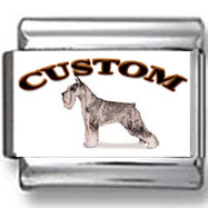 Standard Schnauzer Dog Custom Photo Charm