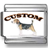 Beagle Dog Custom Photo Charm