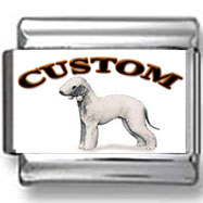 Bedlington Terrier Dog Custom Photo Charm
