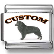 Belgian Sheepdog Custom Photo Charm