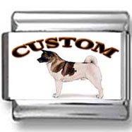 Akita Dog Custom Photo Charm