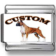 Boxer Dog Custom Photo Charm