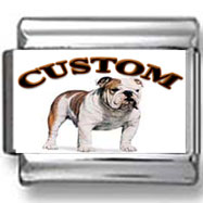 Bulldog Custom Photo Charm