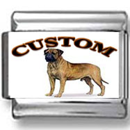 Bullmastiff Dog Custom Photo Charm