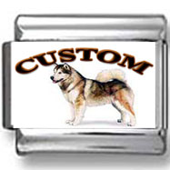 Alaskan Malamute Dog Custom Photo Charm