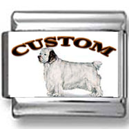 Clumber Spaniel Dog Custom Photo Charm