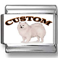 American Eskimo Dog Custom Photo Charm