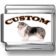 Collie Dog Custom Photo Charm