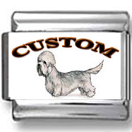 Dandie Dinmont Terrier Dog Custom Photo Charm