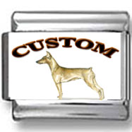 German Pinscher Dog Custom Photo Charm