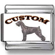 Giant Schnauzer Dog Custom Photo Charm