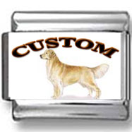 Golden Retriever Dog Custom Photo Charm