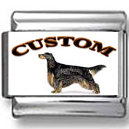 Gordon Setter Dog Custom Photo Charm