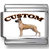 Great Dane Dog Custom Photo Charm