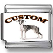 Italian Greyhound Dog Custom Photo Charm