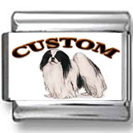 Japanese Chin Dog Custom Photo Charm