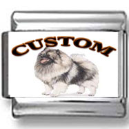 Keeshond Dog Custom Photo Charm