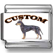 Manchester Terrier Dog Custom Photo Charm
