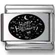 Happy Halloween Collage Black Laser Charm