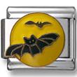 Bats on Moon Italian Charm